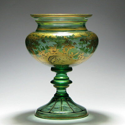Continental Gilded Glass Vase c1900