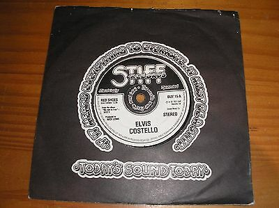 """Elvis Costello. Red Shoes. 7"""" Single."""
