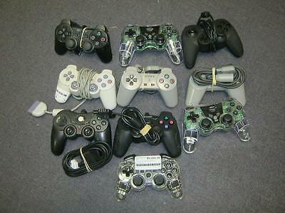 Lot of 10 DEFECTIVE ps1/ps2 Controllers - DEFECTIVE