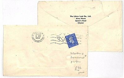LL115 1945 Chester Wartime Cover x2 {samwells-covers}