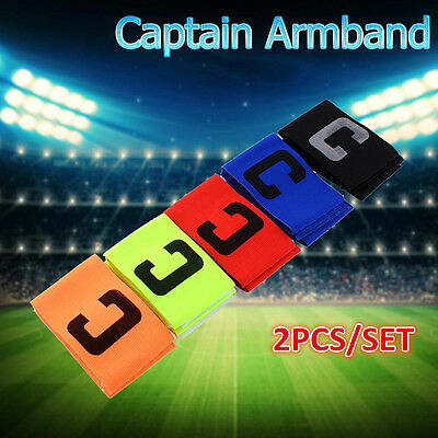 Soccer Basketball Flexible Adjustable Player Fluorescent Captain Armband