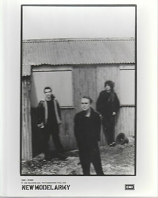 "NEW MODEL ARMY 1990 UK VERY SCARCE 10"" x 8"" BLACK & WHITE PROMOTIONAL PHOTO"