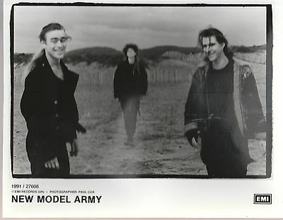 "NEW MODEL ARMY 1991 UK VERY SCARCE 10"" x 8"" BLACK & WHITE PROMOTIONAL PHOTO"