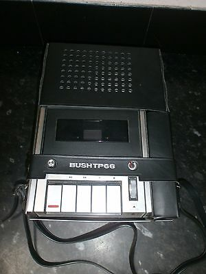 Vintage Bush Tp66 Cassette Tape Recorder And Player, Mains Or Battery, With Case