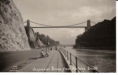 RP Early BRISTOL Suspension Bridge from Portway - people, Photo Hepworth