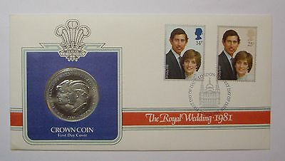 Great Britain - 1981 Royal Wedding; Uncirculated Crown Coin & FDC  See Pics