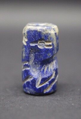 Interesting Sassanian Style Lapis Lazuli Seal With Zoomorphic Impression