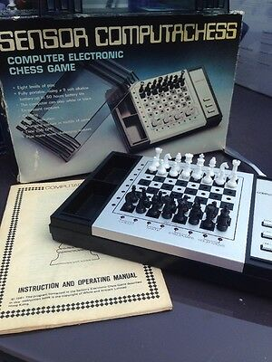 Sensor Computachess Chess Computer Game Classic Retro Vintage Boxed 1981