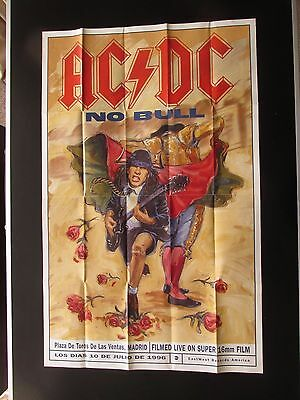 "AC/DC NO BULL 28"" x 17"" DOUBLE SIDED PROMO POSTER FROM 1996 VHS VIDEO RELEASE"