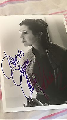 Vintage Star Wars Empire Strikes Back- Carrie Fisher Signed Kurtz Photo