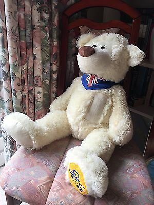 Large 2ft Cream Gala Bear