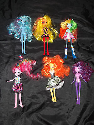 6 my little pony equestria girls dolls two with sounds