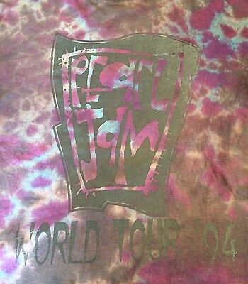 VTG Pearl Jam 1994 Tour T Shirt Tye Dye Nirvana Soundgarden Grunge Rock Original