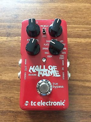 TC Electronic Hall of Fame Reverb Pedal Boxed