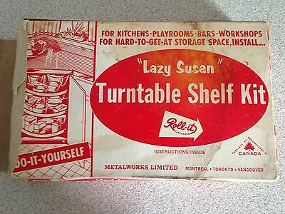 Vintage Lazy Susan Turntable Shelf Kit By Roll-it Canada