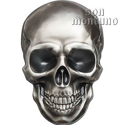 SKULL #1 - 1oz High Relief .999 Silver $5 Dollar Coin in Box with COA 2016 Palau