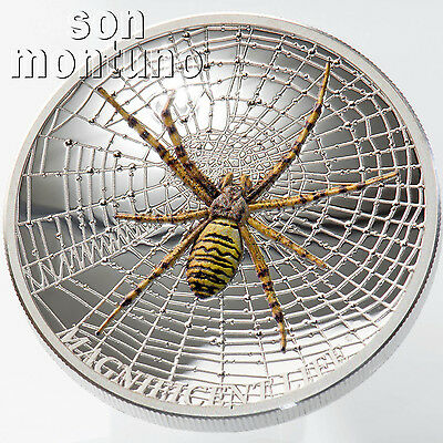 WASP SPIDER Magnificent Life Series - 1oz Silver Proof Coin 2016 COOK ISLANDS $5