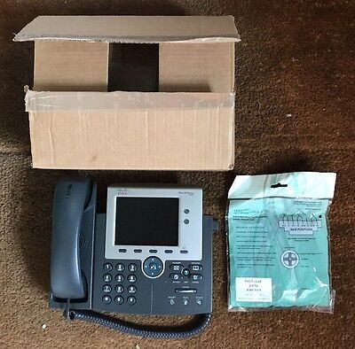 Cisco 7945 Unified IP Phone New In Original Box With Leads (still Sealed)