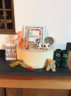 Doll's House Accessories. Mixed Lot Of Toys.