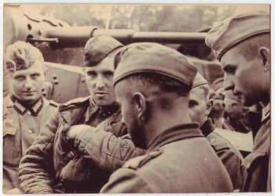 Wwii Photo From Archive : German Wehrmacht Soldiers With Captive Russian