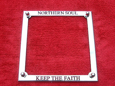 Number Plate Surround in Stainless Steel For Lambretta & Vespa