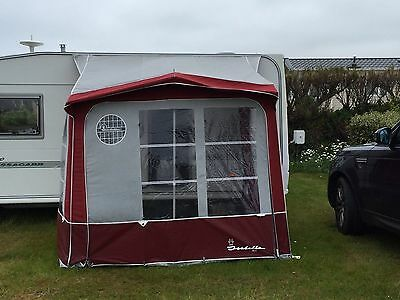 Isabella Minor Porch Awning Bordeaux and Grey Colour
