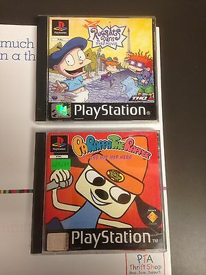 PARAPPA THE RAPPER and RUGRATS IN PARIS both complete nice shape PAL versions