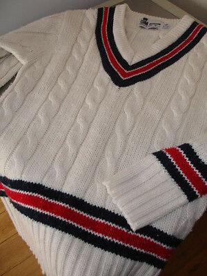 Gun And Moore Retro Cricket Jumper - Uk Size 30 / 32""