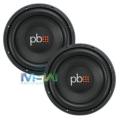 "(2) PowerBass S-1204 12"" CAR STEREO SUBWOOFERS WOOFERS 4-OHM SVC S1204 *PAIR*"