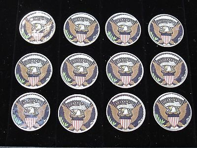 8 Colorized ~ US Quarter Collection ~ Presidential Eagle mixed lot of coins