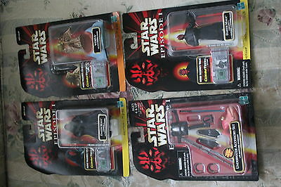 4 Episode 1  Star Wars Carded lot