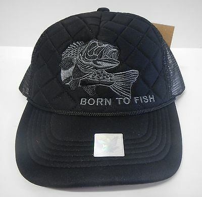 DIAMOND T TRUCK HAT WITH PATCH ADJUSTABLE SNAPS COLOR BLACK
