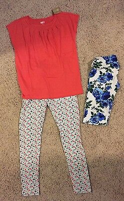 Crazy 8 leggings and top girls size XL 14 NWT