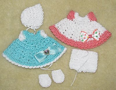 """LOT Crochet Outfits fits 5 1/2 to 6"""" OOAK Polymer, Silicone Bisque Babies #21"""