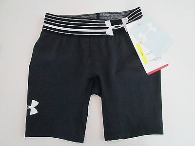 Under Armour Girls Compression Shorts Size Xs Black Brand New