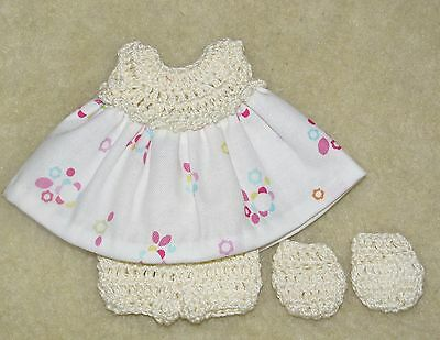"""Cotton Print Outfit fits 5 1/2 to 6"""" Polymer Clay Silicone Babies #24"""