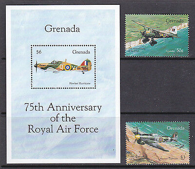 Grenada 1993 75th Anniv of The RAF Pair and Sheet UM Cat £6.50