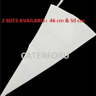 46cm 50cm REUSEABLE CLOTH PIPING PASTRY CREAM ICING BAG COTTON CAKE DECORATING