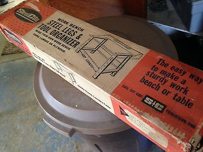 "Steel City Steel 32"" X 4"" Legs for Work Bench or Tool Organizer USA NIB"