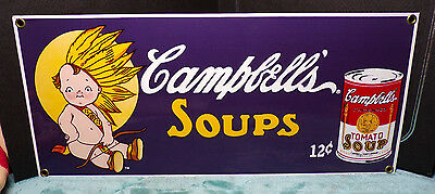 ANDE ROONEY'S PORCELAIN ENAMELED ADVERTISING SIGNS ~ CAMPBELL'S SOUP ~ 1995 ~b