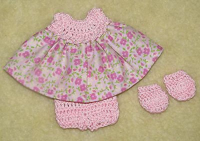 """Cotton Print Outfit fits 5 1/2 to 6"""" Polymer Clay Silicone Babies #34"""