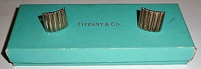 Rare TIFFANY & CO Designer 18K GOLD and STERLING SILVER CUFFLINKS w/BOX~FOR DAD!