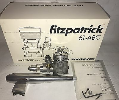 Nib Fitzpatrick 61 Fsr-Abc R/c Model Airplane Engine And Muffler