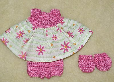 """Cotton Print Outfit fits 5 1/2 to 6"""" Polymer Clay Silicone Babies #38"""