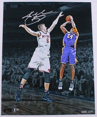 "KOBE BRYANT Autographed ""Last Game at MSG"" Photograph LE 24/24 PANINI"