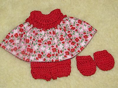 """Cotton Print Outfit fits 5 1/2 to 6"""" Polymer Clay Silicone Babies #42"""