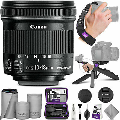 Canon EF-S 10-18mm f/4.5-5.6 IS STM Wide Angle Lens w/ Essential Bundle