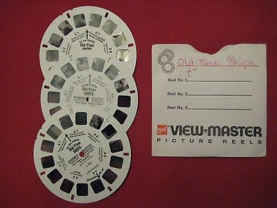 """3 Original """"OLD TIME SHIPS"""" View Master reels"""