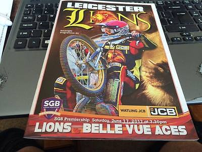 Leicester Lions V Belle Vue Aces--Speedway Programme--17Th June 2017