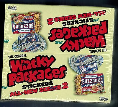 SEALED 2005 Topps Wacky Packages ANS2 Series 2 ...24 Pack Box  6 cards per pack